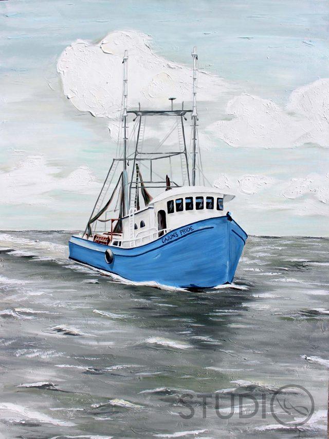 Cajun Pride - Shrimp Boat Acrylic