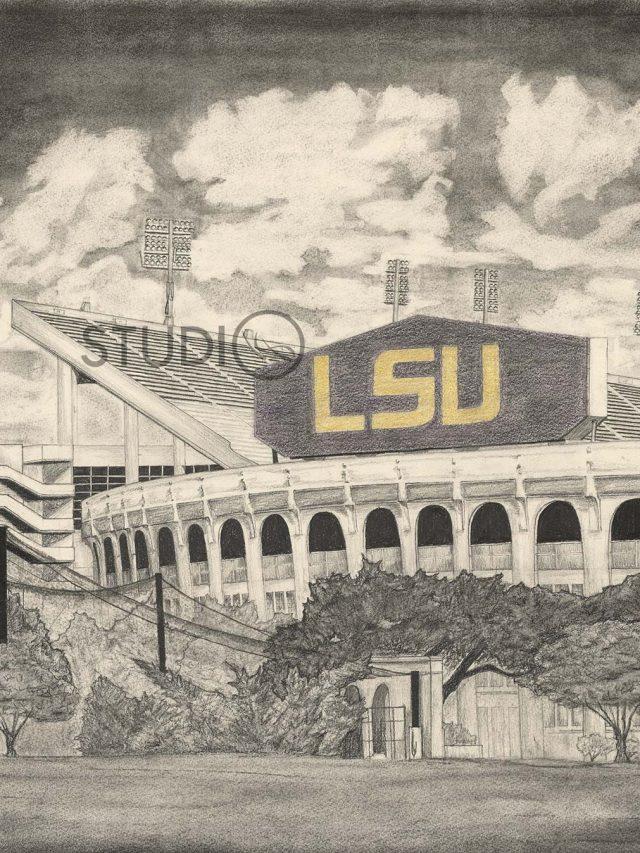 LSU Stadium Drawing