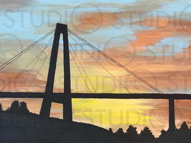 Luling Bridge Acrylic Painting